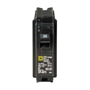 Standard 20 amp circuit breaker