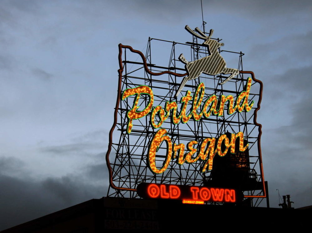 Portland Oregon Old Town Sign
