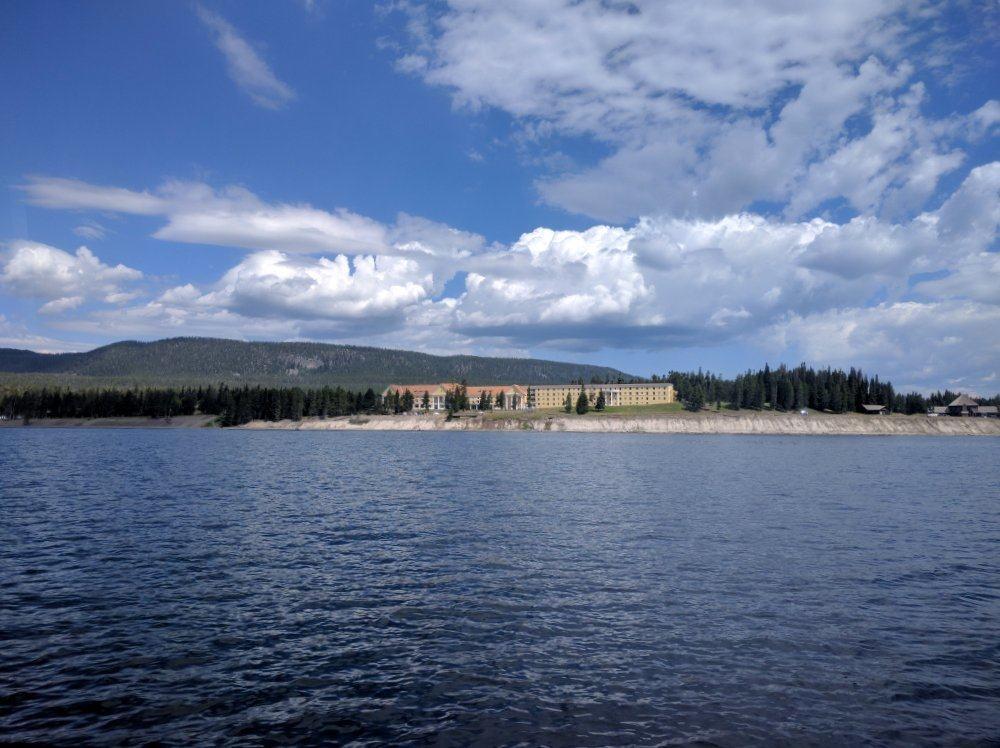 Lake Yellowstone Hotel from the lake