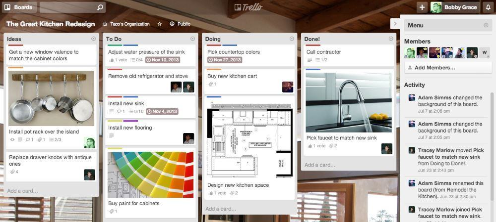This is what a fancy Trello board can look like, we're going to start simple.
