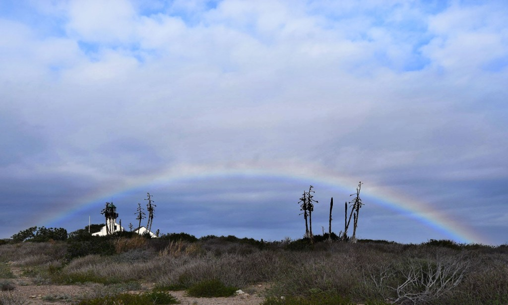 Rainbow Over the Light House