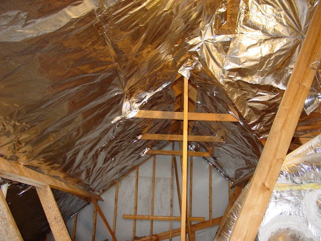 Radiant barrier in roof