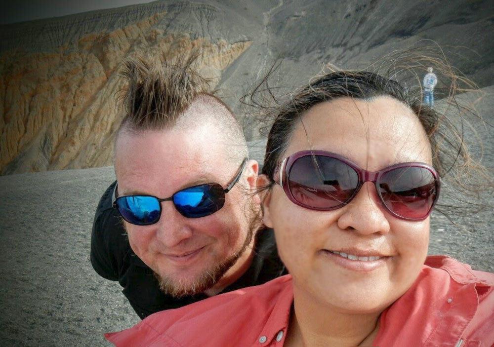 Selfies Ubehebe Crater