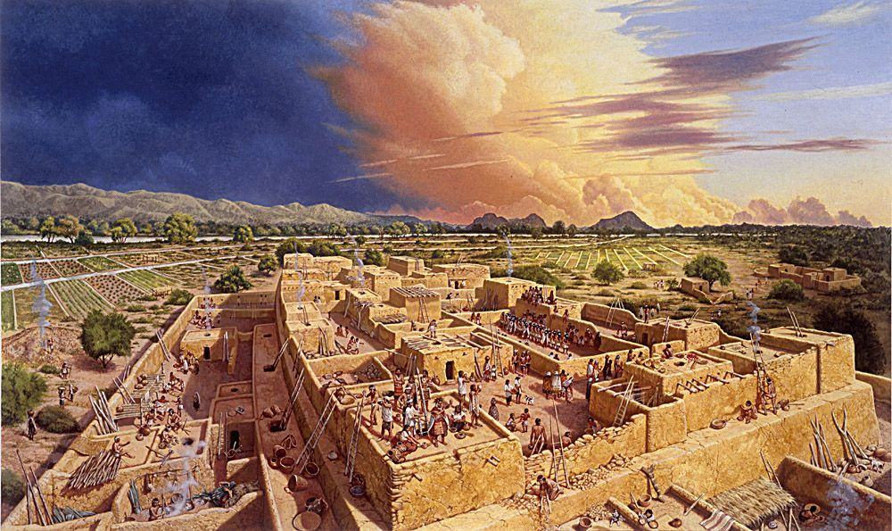 What a Hohokam city might have looked like back in the day.