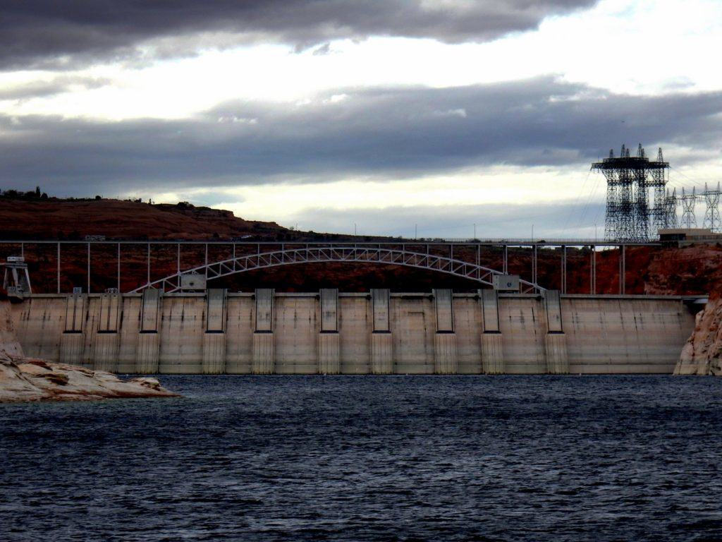 Glen Canyon Dam From Behind