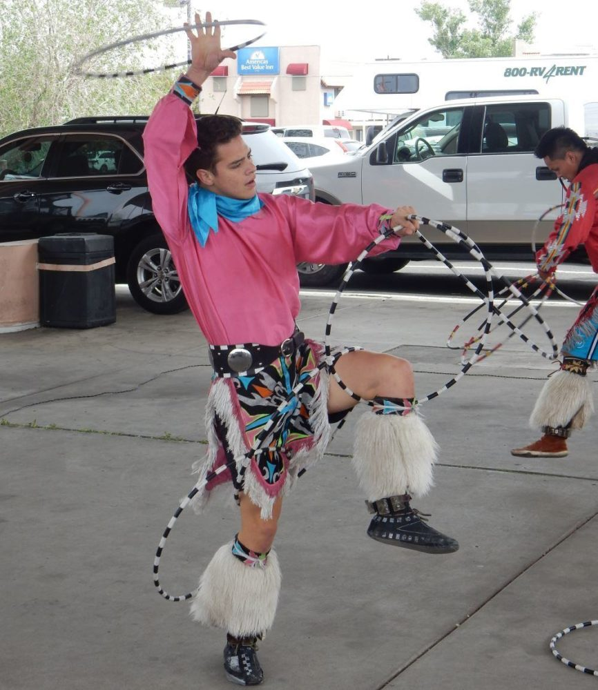 The dancers were great, the parking lot where they performed, not so much.