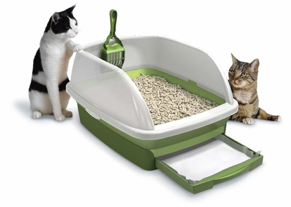 Here is what it looks like in the adds, similar in real life, cats not included.