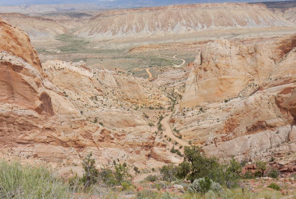 Looking down the Burr Trail switchback from the top. Amazing drive!