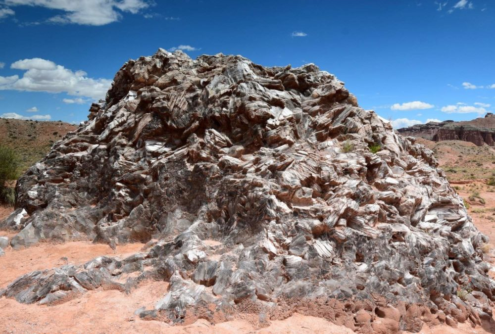 Glass Mountain is a mound of Glittering Gypsum