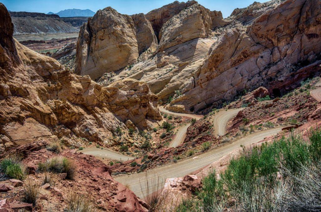 Different Perspective of Burr Trail Switchbacks