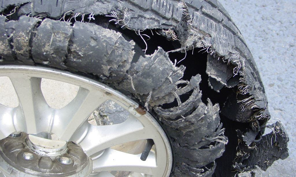 Don't let this happen to you, check your tire pressure regularly.