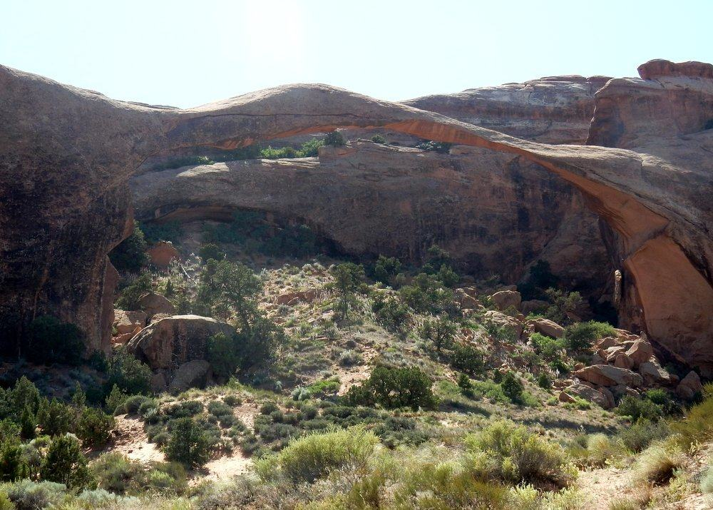 Landscape Arch from a distance. This is as close as we can get