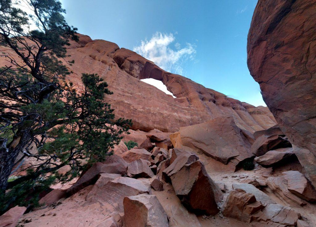 Skyline Arch among the Boulders