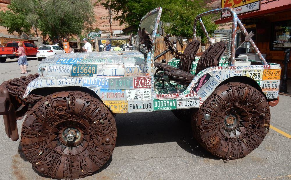 "These pictures have nothing to do with writing. This is a piece of folk art from ""The hole in the wall"" in Utah; a roadside attraction."