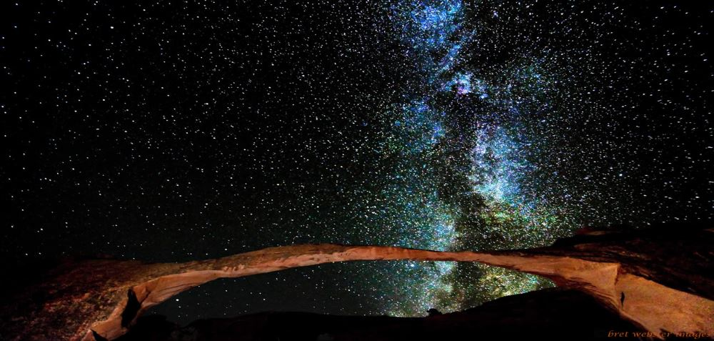 These are all from Arches park. This is landscape arch. You need lighting equipment to see the arch with the sky.