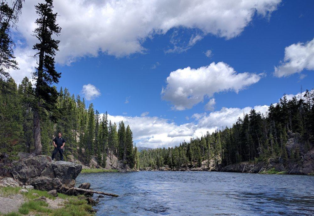 On the Bank of Yellowstone River.