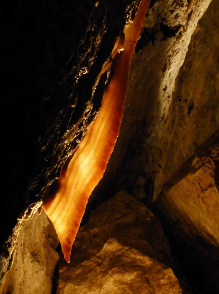 Jewel Cave a long Drapery Formation
