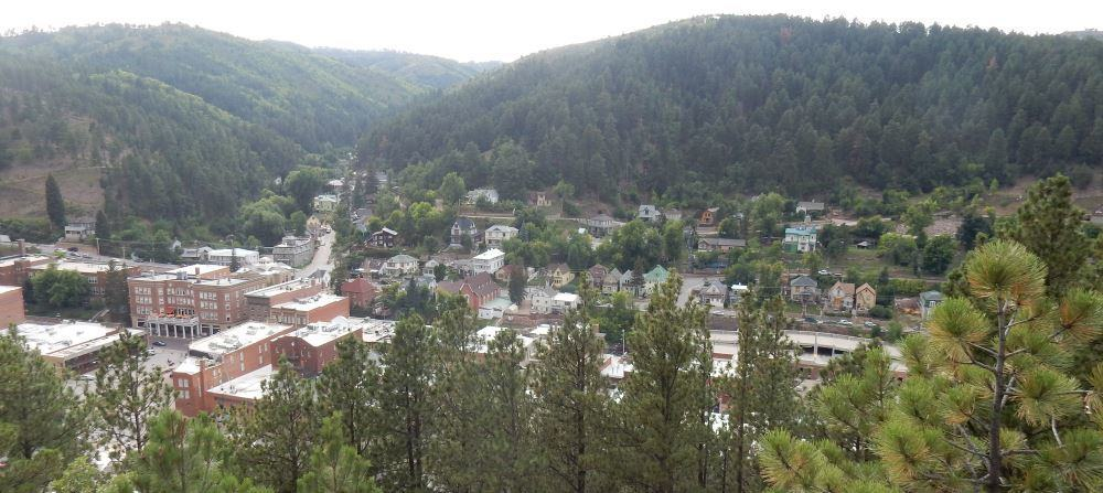 Deadwood viewed from the boot hill graveyard. It's actually a bit smaller than in its historic photos.