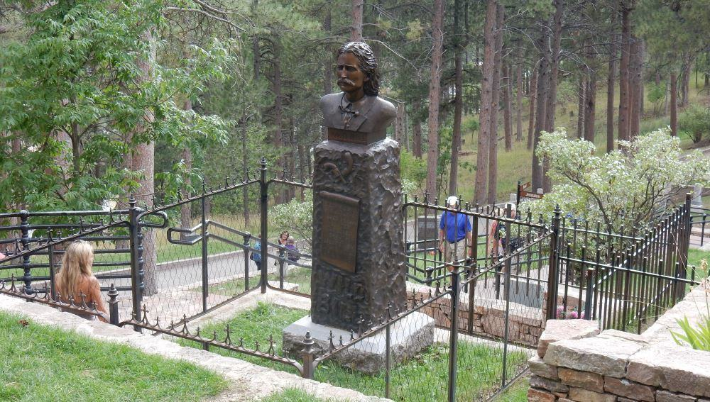 Wild Bill Hickock's grave and shrine. It is the only site that is fenced off.