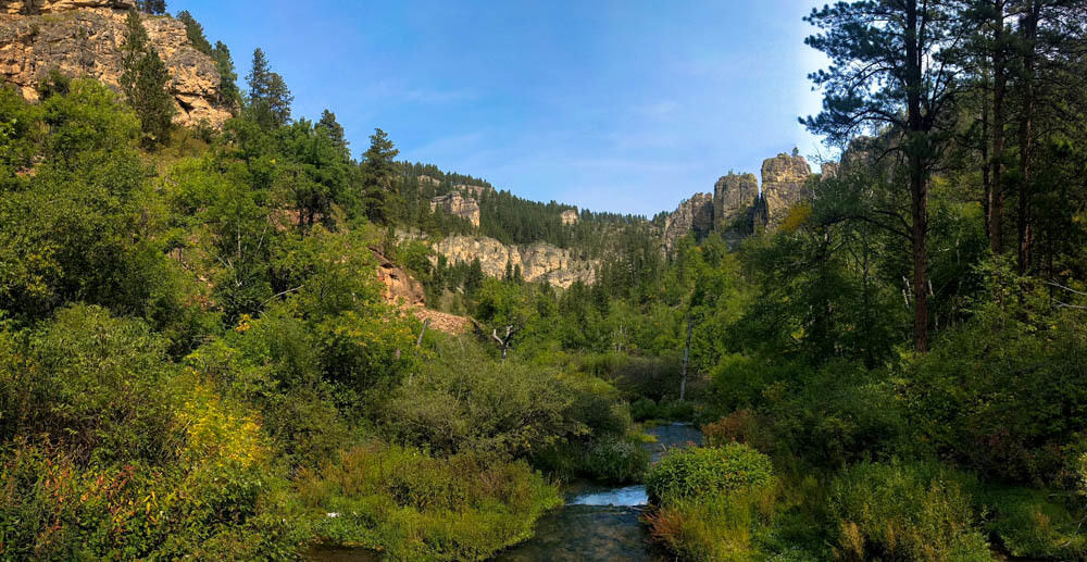 Looking back on Little Spearfish Canyon & Spearfish Creek