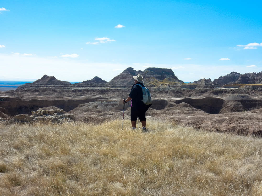Here I am inspecting the awesomeness of Badlands