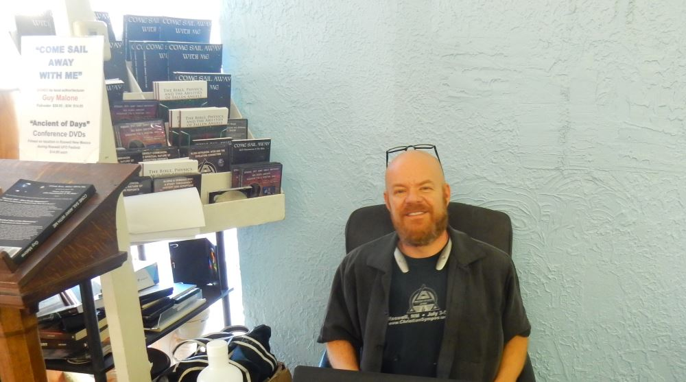 Here is the friendly author Guy Malone signing his book, Come Sail Away With Me.