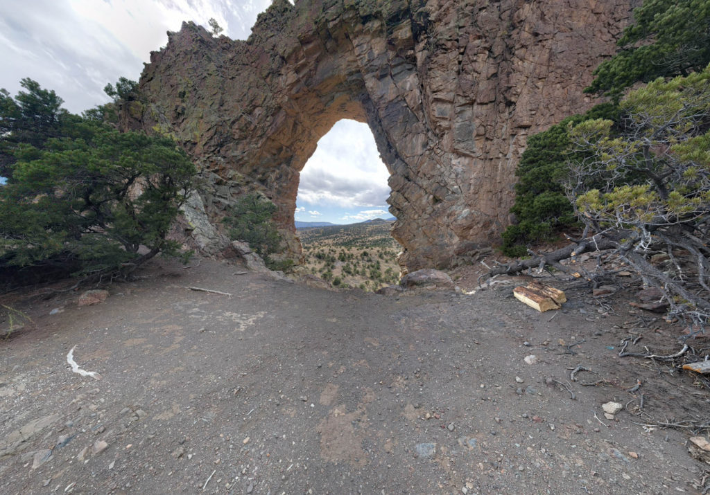 From Behind Natural Arch
