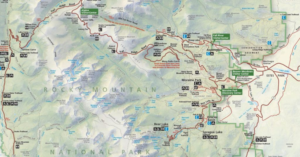 Rocky Mountain Map - a good map will help save time