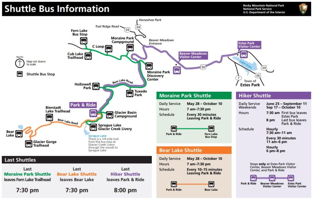 Rocky Mountain Shuttle Map 2016