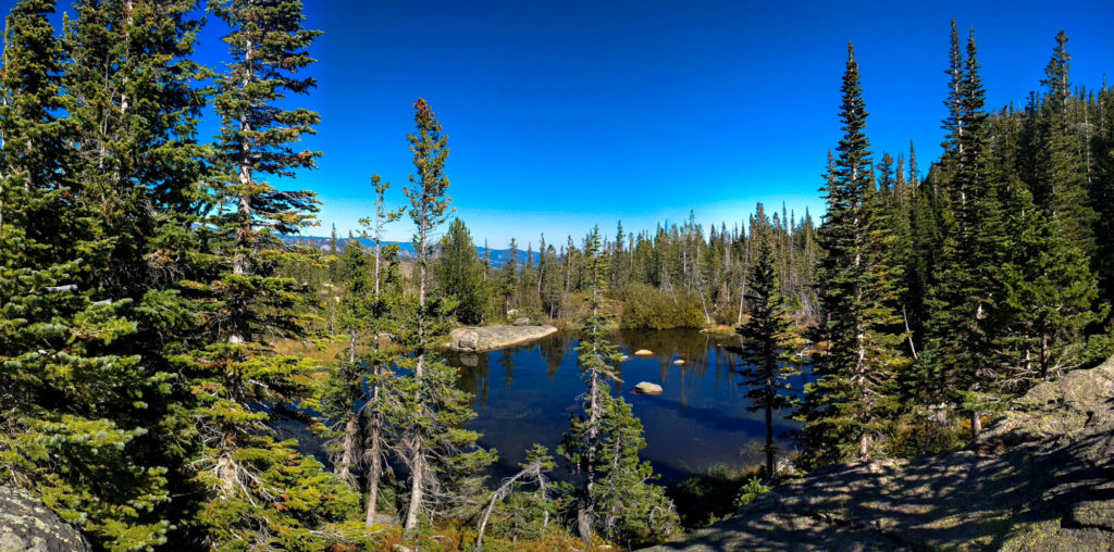 Our rest stop pond near Glacier Gorge Trail