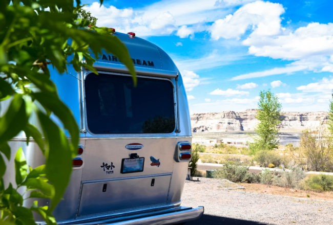 Airstream at Wahweap Campground