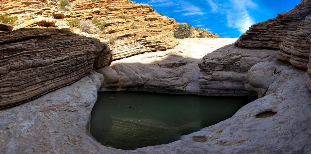 "The Ernst Tinaja - naturally-formed rock pool which is also referred to as a ""kettle""."