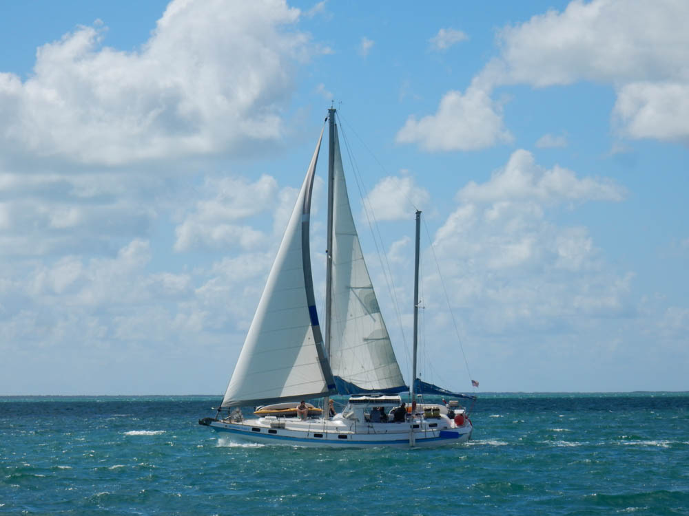 Sister Sailing Boat - very similar to ours, we think its a Ketch.