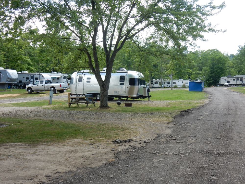 "A neighboring Airstream at Woodside. I'd sum up the condition of the park as, ""seen better days."""
