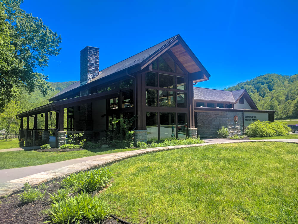 The new-ish and eco-friendly Oconaluftee Visitor Center