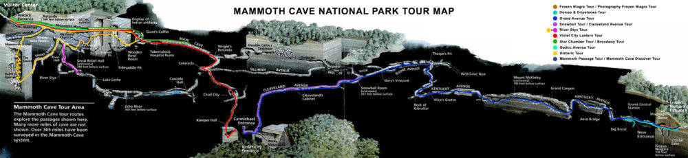 Mammoth Cave Tour Map