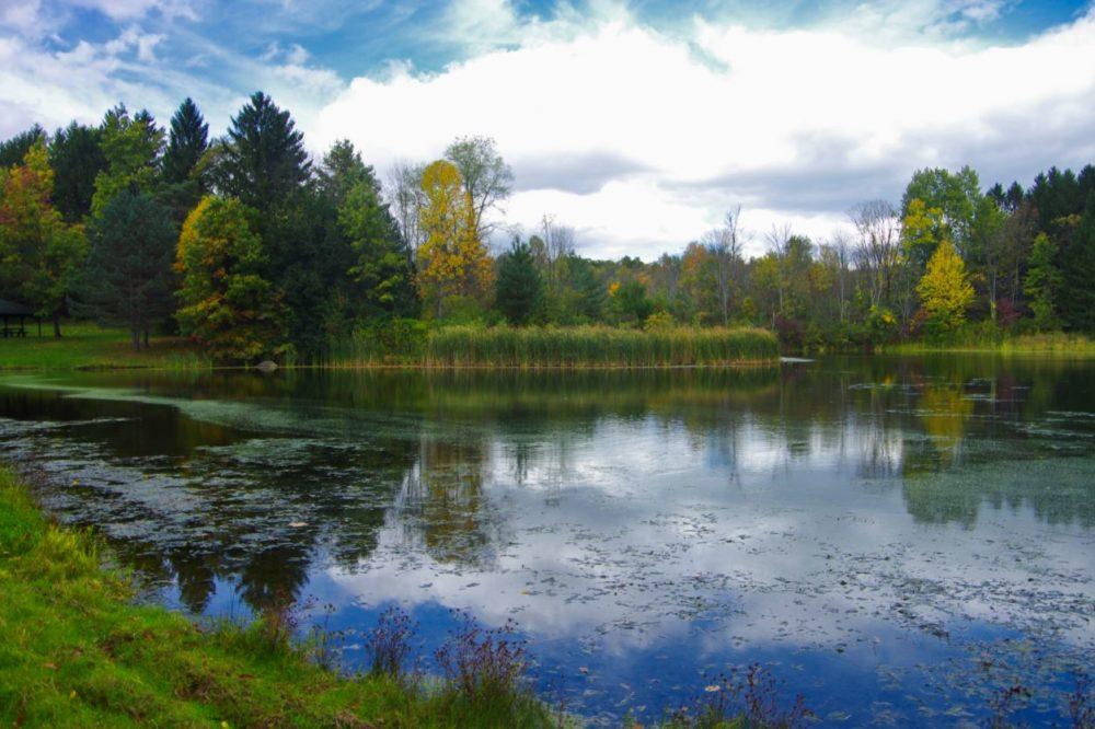 Indigo Lake - a manmade lake in the Cuyahoga Valley