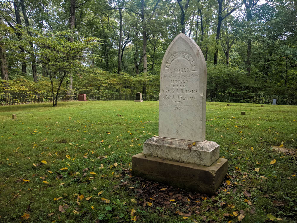 The Mother of Abraham Lincoln, Nancy Hanks Lincoln lies here