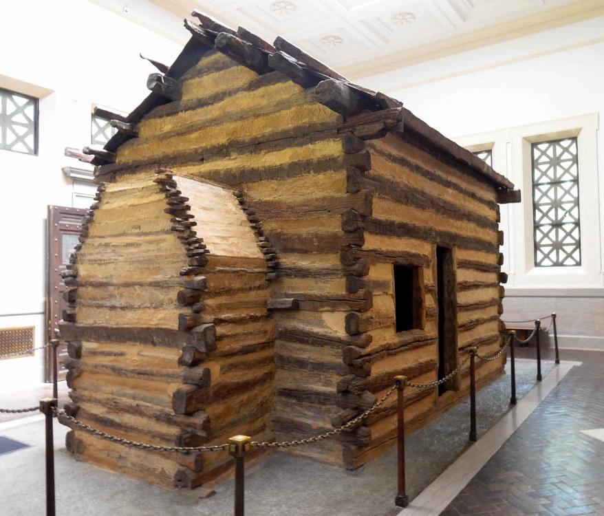 Symbolic Lincoln Birth Cabin